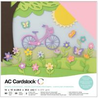 "American Crafts Variety Cardstock Pack 12""X12"" 60/Pkg NOTM460744"