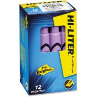 Avery HI-LITER Desk-Style Highlighter, Chisel Tip, Fluorescent Purple Ink, Dozen AVE24060