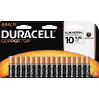 Duracell CopperTop Alkaline Batteries, AAA, 16/PK DURMN2400B16Z