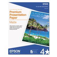 Epson Premium Matte Presentation Paper, 45 lbs., 8-1/2 x 11, 50 Sheets/Pack EPSS041257
