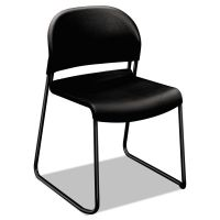 HON GuestStacker Series Chair, Black with Black Finish Legs, 4/Carton HON4031ONT