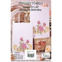 """Stamped Kitchen Towels For Embroidery 17""""X30"""" 2/Pkg NOTM318887"""