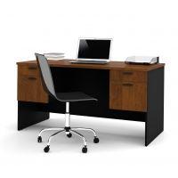 Bestar Hampton Executive desk in Tucany Brown & Black BESBES694002163