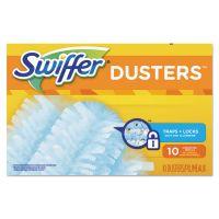 Swiffer Refill Dusters, Dust Lock Fiber, Light Blue, Unscented, 10/Box, 4 Box/Carton PGC21459CT