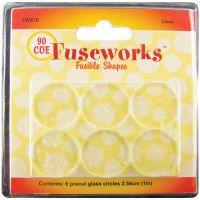 "Fuseworks Fusible Glass Shapes Round 1"" 6/Pkg NOTM429490"