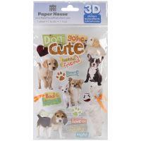 """Paper House 3D Stickers 4.5""""x8.5"""" NOTM206485"""