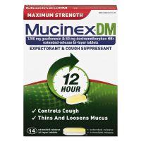 Mucinex DM Maximum Strength Expectorant and Cough Suppressant, 14 Tablets/Box RAC07214