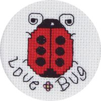 Janlynn Love Bug Mini Counted Cross Stitch Kit NOTM378540