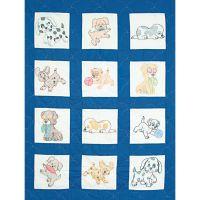 Jack Dempsey Stamped White Nursery Quilt Blocks NOTM242525