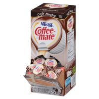 Coffee-mate Liquid Coffee Creamer, Café Mocha, 0.375 oz Cups, 50/Box NES35115