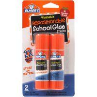 Elmer's Repositionable School Glue Sticks 2/Pkg NOTM078982