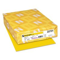 Astrobrights Color Cardstock, 65lb, 8 1/2 x 11, Solar Yellow, 250 Sheets WAU22731