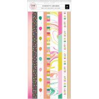 Confetti Wishes Washi Sticker Sheets 3/Pkg NOTM366012