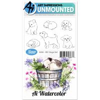 """Art Impressions Watercolor Cling Rubber Stamps 4""""X7"""" NOTM098808"""