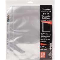 """8.5""""X11"""" 3 Hole Refill Pages Holds 20 8""""X10"""" Photos NOTM090522"""