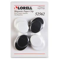 Lorell Plastic Cap Magnetic Paper Clips LLR52562