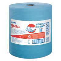 WypAll* X80 Cloths with HYDROKNIT, Jumbo Roll, 12 1/2 x 13 2/5, Blue, 475/Roll KCC41043