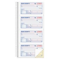 Adams Two-Part Rent Receipt Book, 2 3/4 x 4 3/4, Carbonless, 200 Forms ABFSC1152