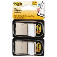 Post-it Flags Standard Page Flags in Dispenser, White, 100 Flags/Dispenser MMM680WE2
