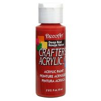 Deco Art Crafter's Acrylic Deep Red Acrylic Paint NOTM135494