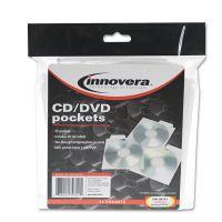 Innovera CD/DVD Pockets, 25/Pack IVR39701