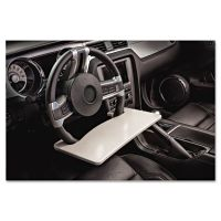 AutoExec Automobile Steering Wheel Attachable Work Surface, Gray AUE13000