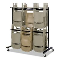 Safco Two-Tier Chair Cart, 64-1/2w x 33-1/2d x 70-1/4h, Black SAF4199BL