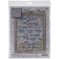 Serenity Prayer Floral Counted Cross Stitch Kit NOTM407366
