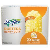 """Swiffer Heavy Duty Dusters Refill, Dust Lock Fiber, 2"""" X 6"""", Yellow, 33/Carton PGC99035"""