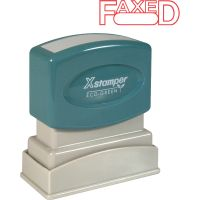 Xstamper FAXED Title Stamps XST1350
