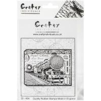 """Crafty Individuals Unmounted Rubber Stamp 4.75""""X7"""" Pkg NOTM109990"""