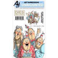 Art Impressions Front-N-Backs Stamp & Die Set NOTM395735