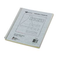 National Duplicate Lab Notebook, Quadrille Rule, 11 x 9, White/Yellow, 100 Sheets RED43647