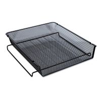 Universal Mesh Stackable Front Load Tray, Letter, Black UNV20004