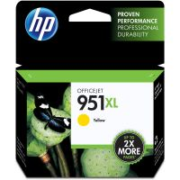 HP 951XL, (CN048AN) High Yield Yellow Original Ink Cartridge HEWCN048AN