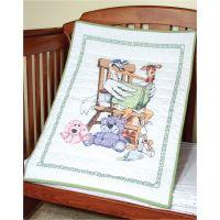 Fairway Stamped Baby Quilt Top NOTM493954