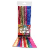 Hygloss Non-gum Embossed Metallic Chain Strips HYX17018