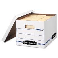 Bankers Box EASYLIFT Storage Box, Letter/Letter, Lift-Off Lid, White/Blue, 12/Carton FEL0006301