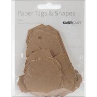 "Paper Tags & Shapes 1.5""X.75"" To 3.5""X1.75"" 24/Pkg NOTM450523"