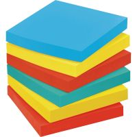 Post-it Pop-up Notes Original Pop-up Refill, 3 x 3, Assorted Jaipur Colors, 100-Sheet, 18/Pack MMMR33018AUCP
