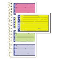 Adams Wirebound Telephone Message Book, Two-Part Carbonless, 200 Forms ABFSC1153RB