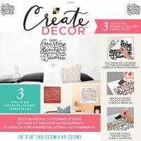 "DCWV Create Decor Self-Adhesive Lettering & Stencil 18""X18"" NOTM539819"