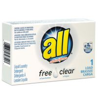 All Free Clear HE Liquid Laundry Detergent, Unscented, 1.6 oz Vend-Box, 100/Carton VEN2979351