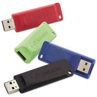 Verbatim Store 'n' Go USB 2.0 Flash Drive, 16GB, 4/Pack VER99123