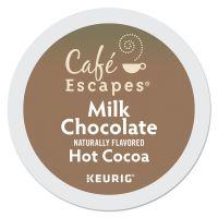 Café Escapes Milk Chocolate Hot Cocoa K-Cups, 24/Box GMT6801