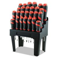 Great Neck Screwdriver Set and Storage Rack, 26-Piece GNS60179