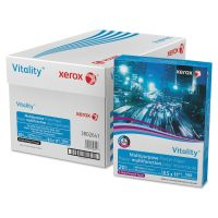 Xerox Vitality Multipurpose 3-Hole Punched Paper, 92 Brightness, 20 lb, 8 1/2 x 11, White, 5000 Sheets/Carton XER3R02641