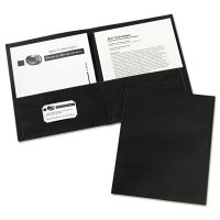 Avery Two-Pocket Folder, 40-Sheet Capacity, Black, 25/Box AVE47988