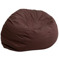 Flash Furniture Oversized Solid Brown Bean Bag Chair FHFDGBEANLARGESOLIDBRNGG