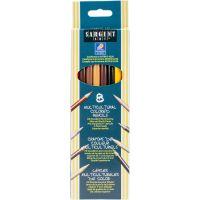 Multicultural Colored Pencils 8/Pkg NOTM489817
